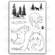 CS170D Hobby Art Stamps - Wolves