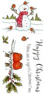 CS173D Hobby Art Stamps - Snowman & Friends