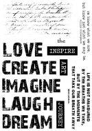 CS184D Hobby Art Stamps - Words