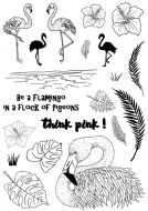 CS187D Hobby Art Stamps - Flingo the Flamingo - Janie