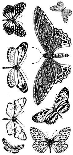 CS193D - Hobby Art Stamps - Butterflies - Janie's Collection