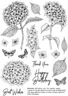 CS199D Hydrangea Hobby Art Stamps
