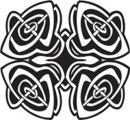 Crafty Stamps - Celtic 4 Rose Buds- CT152D