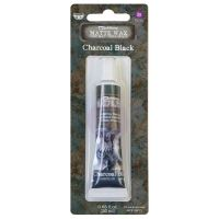 Charcoal Black Finnabair Art Alchemy Matte Wax 20ml (AAMWP67901)