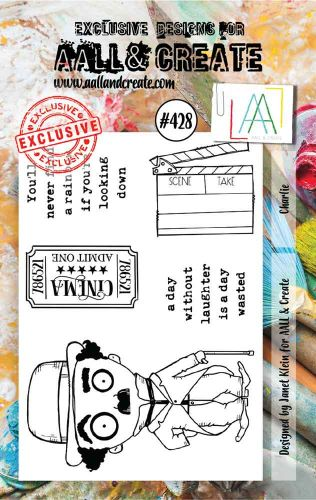 Charlie No. 428 Aall and Create A7 sized stamp by Janet Klein (AAL00428)