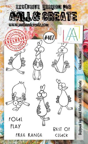 Chicken Dance (No. 407) A6 sized stamp by Janet Klein for Aall and Create (AAL00407)