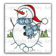 Clarence the Snowman P6 stamp set (CS320D) Hobby Art Stamps