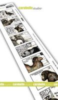 Cling Stamp Edge 8 Labels Small Animal Postcard Carabelle Studio (sed0042)