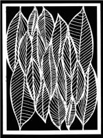 Clustered Leaves designed by Cecilia Swatton for Stencil Girl (9 inch by 12 inch)