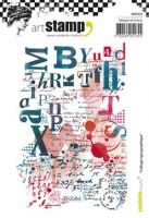 Collage typographique - Carabelle Studio a6 cling rubber stamp (SA60325)