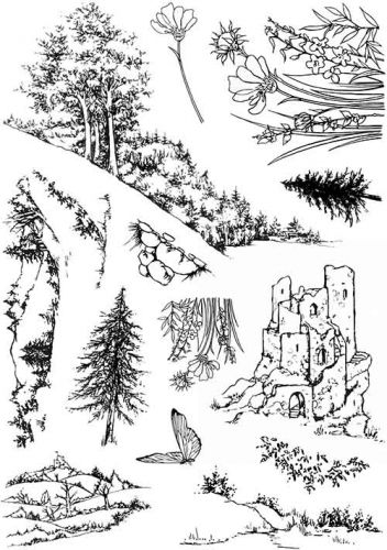 CS243D Hobby Art Stamps - Countryside