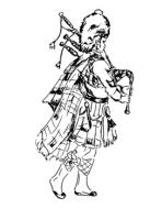 Crafty Stamps - Bagpiper (l)   - SC141N