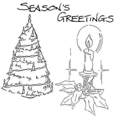 Christmas Set - XM3M (Christmas tree, candle, Seas Greet)