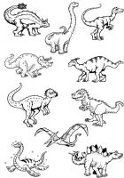 Crafty Stamps - Dinosaur minis set - DN1A5