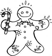 Crafty Stamps - Gingerbread man - XM121F