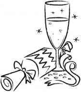 Crafty Stamps - Large Champagne and Cracker - XM138F