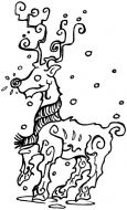 Crafty Stamps - Large Reindeer - XM130M