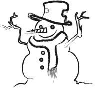 Crafty Stamps - Large Snowman (twiggy) - XM143F
