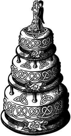 Crafty Stamps - Large Wedding Cake - WD160KI