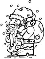 Crafty Stamps - Medium Santa - XM124HF