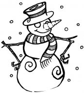 Crafty Stamps - Medium Snowman - XM126F