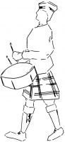 Crafty Stamps -  Scottish Drummer  - SC147N