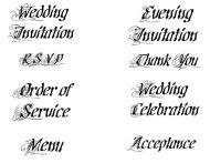Crafty Stamps - Wedding Set 2