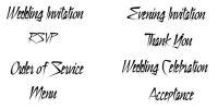 Crafty Stamps - Wedding Set 4