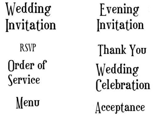 Crafty Stamps - Wedding Set 5