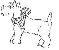 Crafty Stamps - tartan scottie- XM111F