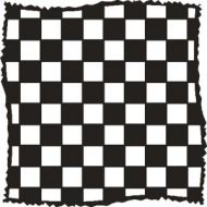 """Distressed Checkers 6"""" x 6"""" Mask - That Special Touch"""