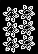 Beaded Flower Mini Stencil - Creative Expressions