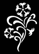 Floral Flourish Mini Stencil - Creative Expressions