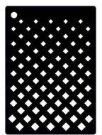 Graduated Grid  Mini Stencil - Creative Expressions