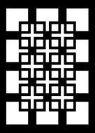 Knots and Crosses Mini Stencil - Creative Expressions