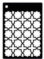 Ornate Trellis Mini Stencil - Creative Expressions