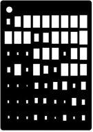 Rectangle Illusion Mini Stencil - Creative Expressions