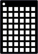Squares Grid Mini Stencil - Creative Expressions