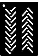 Tyre Tracks Mini Stencil - Creative Expressions
