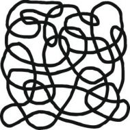 """Squiggle 6"""" x 6"""" Mask - That Special Touch"""