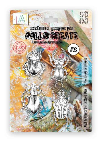 Creeping Creatures cutting die (no. 23) by Tracy Evans for Aall and Create (AALD023)