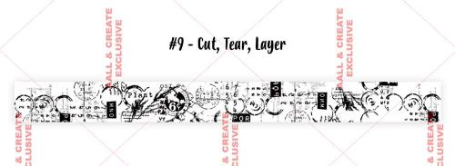 Cut, Tear, Layer (no. 9) 35mm thick washi tape by Tracy Evans for Aall and Create (AALWT009)