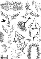Dovecot - Sharons Collection A5 Clear Stamp Stamp Set by Hobby Art (CS274D)
