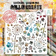 No. 96 Dandelion Field Aall and Create 6 by 6 Stencil