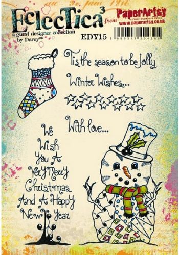 PaperArtsy - Darcy EDY15 A5 Cling Rubber Stamp Set