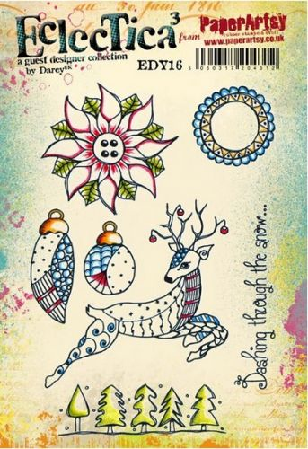 PaperArtsy - Darcy EDY16 A5 Cling Rubber Stamp Set