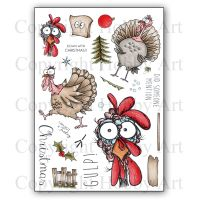 Daryl The Quirky Turkey Hobby Art Clear Stamp Set CS136D