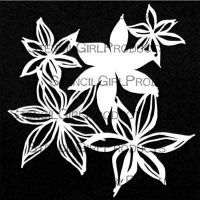 Deconstructed Cluster of Lilies Mask and Stencil by Traci Bautista for StencilGirl