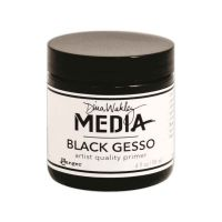 Black Gesso Dina Wakley Media 4oz (118ml) Jar (MDM41719)