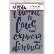 Dina Wakley Media Stencil-I Want